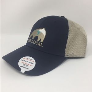 72be197b82 Patagonia Accessories - Patagonia Eat Local Upstream LoPro Trucker Hat NWT